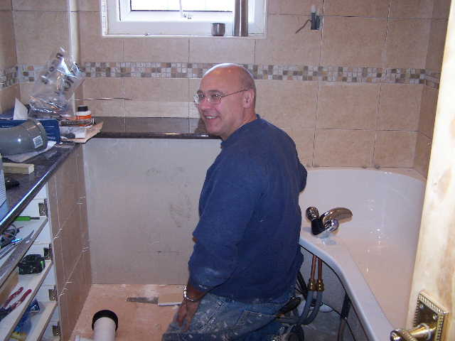 graham is used to working in lofts and under sinks - it comkes with the job.